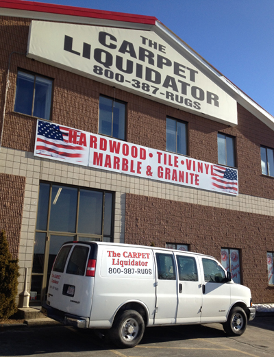 exterior with truck small three years ago the carpet liquidator